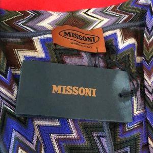 VINTAGE MISSONI PLUNGING NECKLINE DRESS NWT! XS